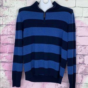Williams men's 100% cashmere striped sweater XL